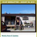 Co-op Newsletter — August 20, 2018