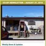 Co-op Newsletter — Aug 27, 2018
