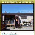Co-op Newsletter — Aug 27, 2018