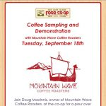 Mountain Wave Coffee Tasting — September 18, 2018
