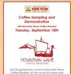 Mountain Wave Coffee Tasting — September 18, 2018