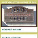 Co-op Newsletter — October 15, 2018