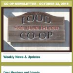 Co-op Newsletter — October 22, 2018