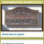 Co-op Newsletter — October 22, 2018