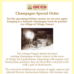 Champagne Special Orders — by November 12th, 2018