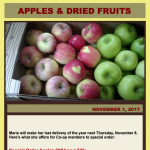 Apples & Dried Fruit — Order by November 6th, 2018
