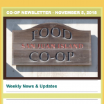 Co-op Newsletter — November 5, 2018