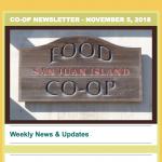 Co-op Newsletter — November 5, 2018