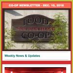 Co-op Newsletter — December 10, 2018
