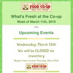 Weekly Fresh Sheet — March 11th, 2019