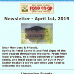 Newsletter — April 1st, 2019