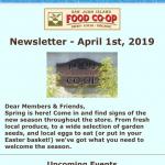 Newsletter — April 1st, 2019