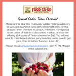 Special Order Cherries — June 11th, 2019