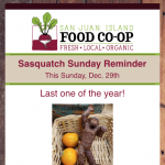 Last Sasquatch Sunday of 2019