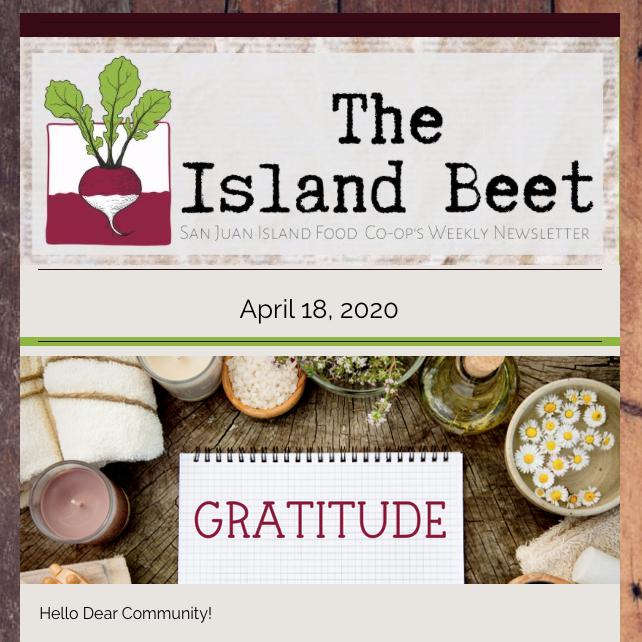 Island Beet — April 18th, 2020